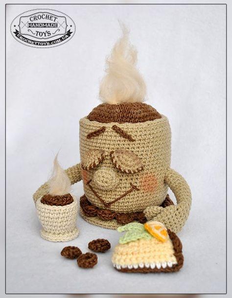 Tasse Kaffee häkeln | вязаные вкусняшки | Pinterest | Tasse kaffee ...