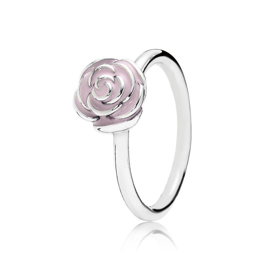 Pandora Rose Garden Stackable Ring Pink Enamel Special Price