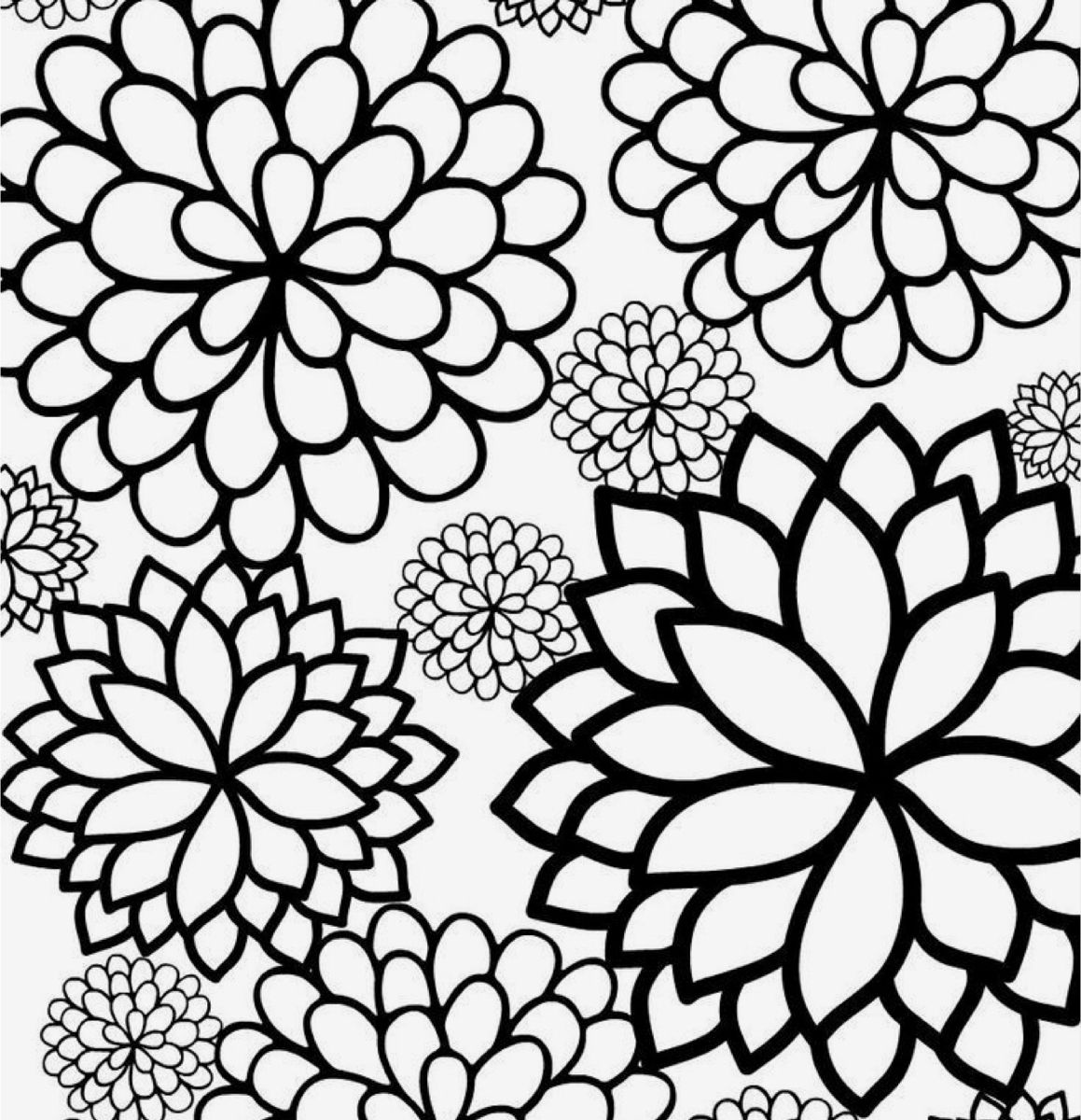 Bursting Blossoms Flower Coloring Page Printable Flower Coloring Pages Flower Coloring Pages Mandala Coloring Pages