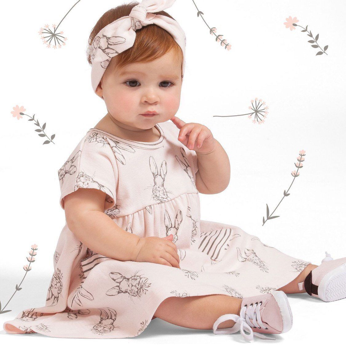 Sweet Bunny Dress for Baby Girl Spring and Easter by Tesa Babe ...