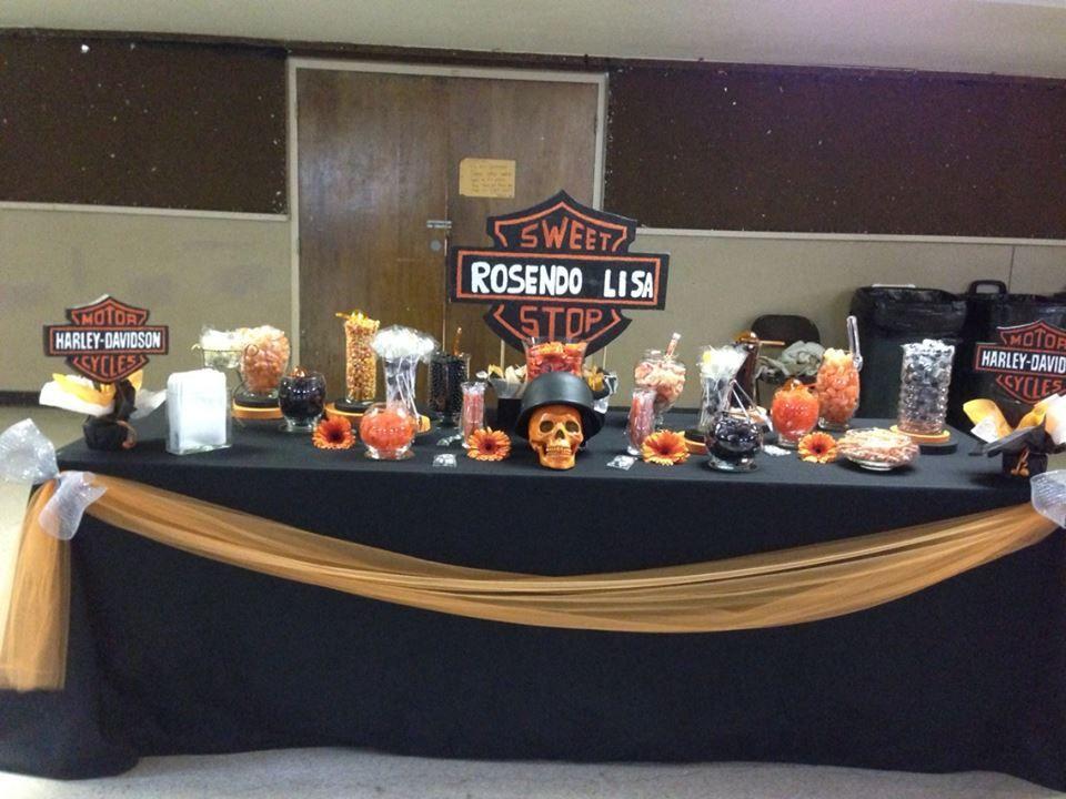 Harley Davidson Wedding: ~Harley Davidson Wedding Candy Buffet