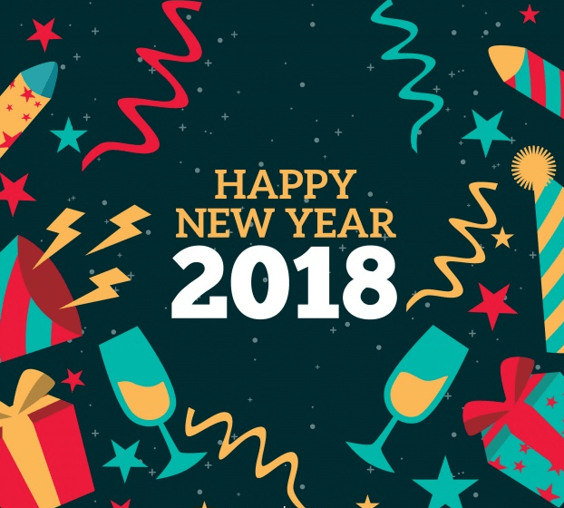 New Year 2018 Greeting Card Send Share Happy New Year 2018 New Year 2018 Happy New