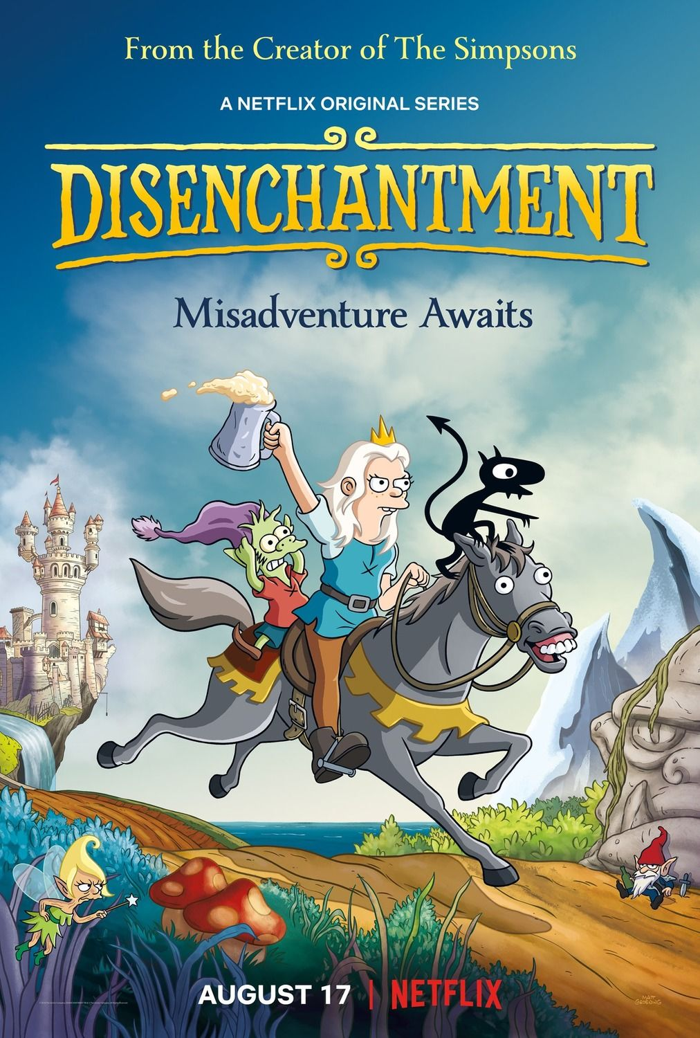 Return To The Main Poster Page For Disenchantment Matt Groening Netflix The Simpsons
