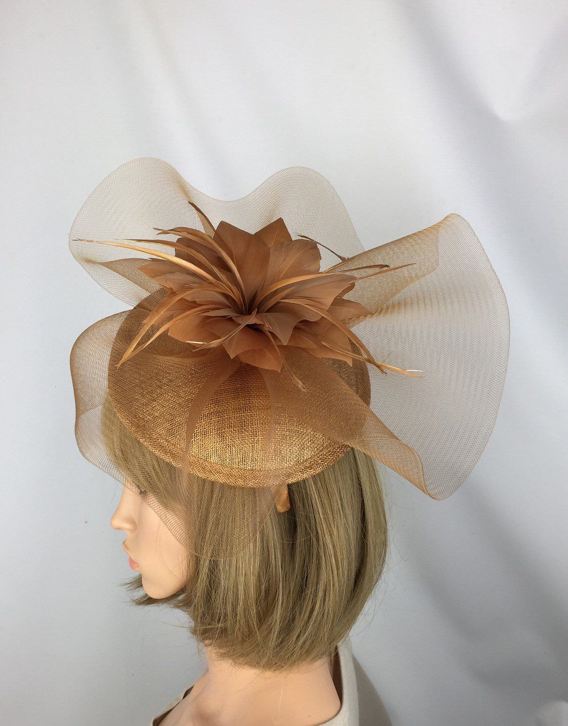 Excited to share this item from my  etsy shop  Rusty Gold Bronze Fascinator  Wedding 7651693b245