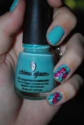 Photo of Roses.  Nail Art Gallery by NAILS Magazine