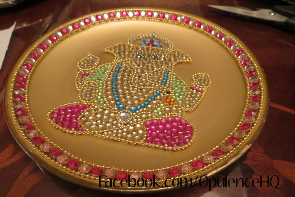 Beautiful Ganesh Plate Aarti Thali Handmade By Opulence