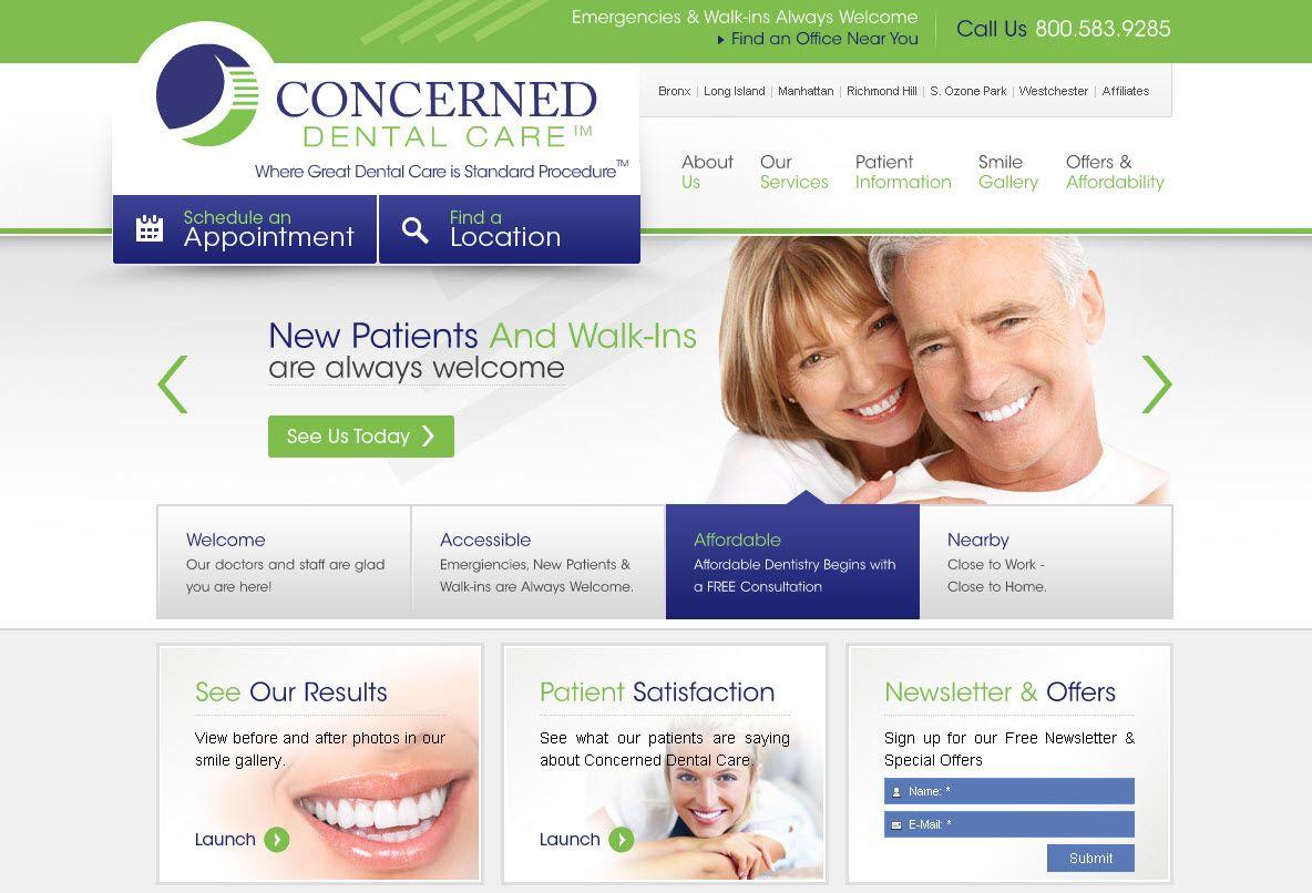 Winning website for a dental practice in New York!