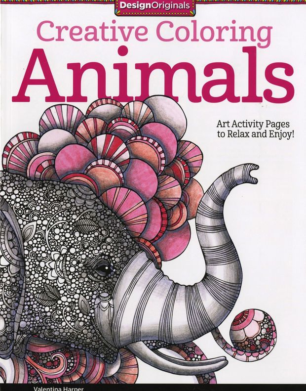 Creative Coloring Animals Adult And Activity Book By Valentina Harper