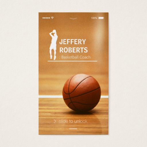Creative Basketball Coach Trainer Business Card