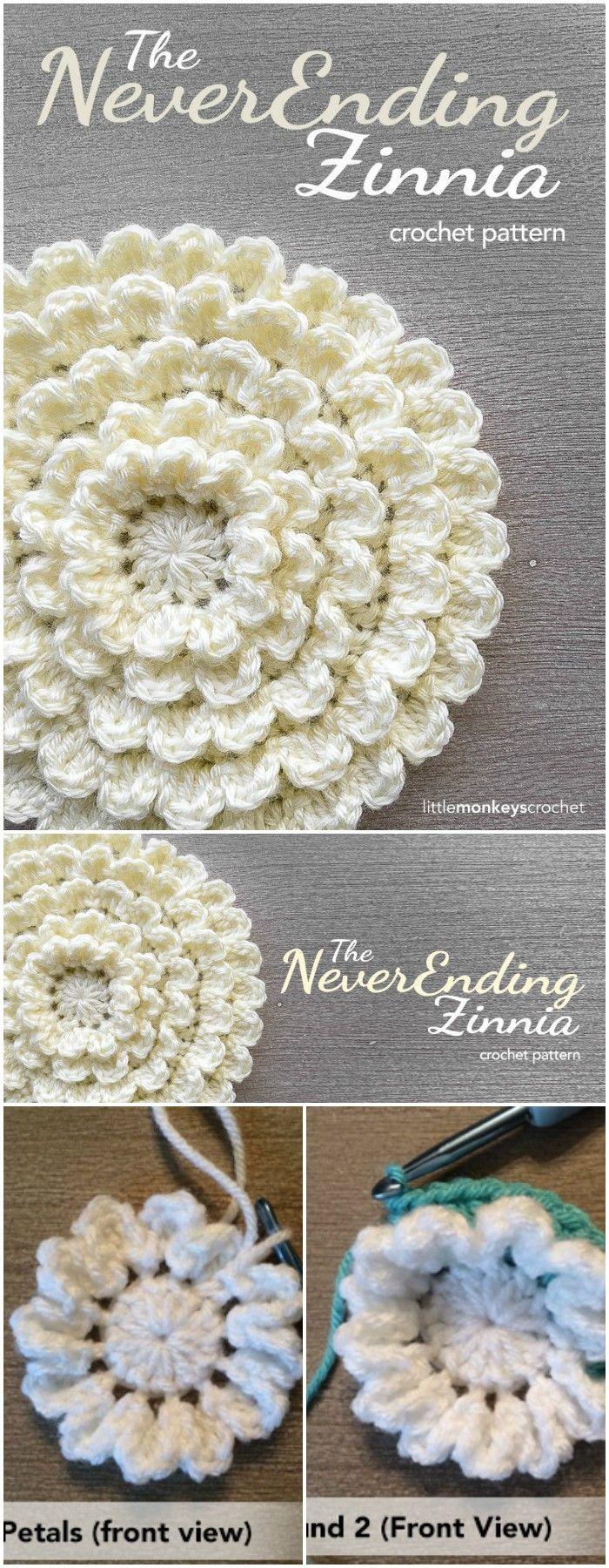 The Never Ending Zinnia   wow   Pinterest   Blumen häkeln ...