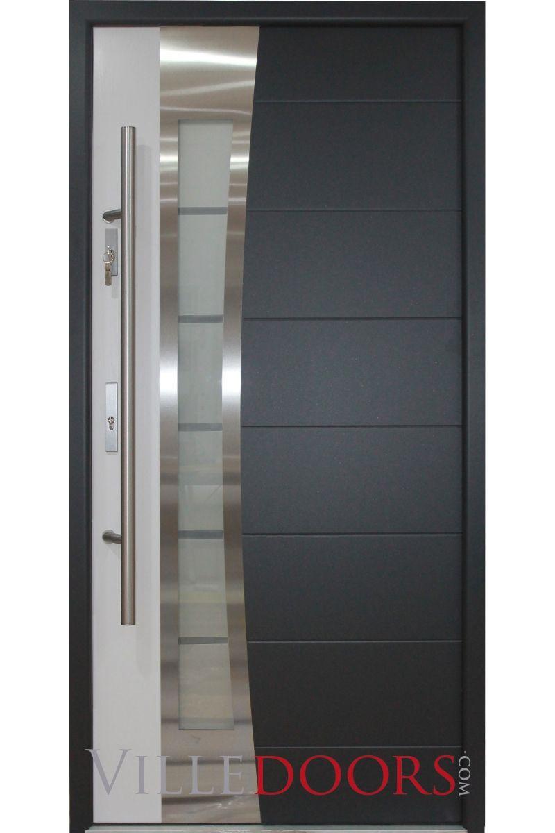 Porto Stainless Steel Modern Exterior Door Modern Exterior Doors Door Design Interior Exterior Doors