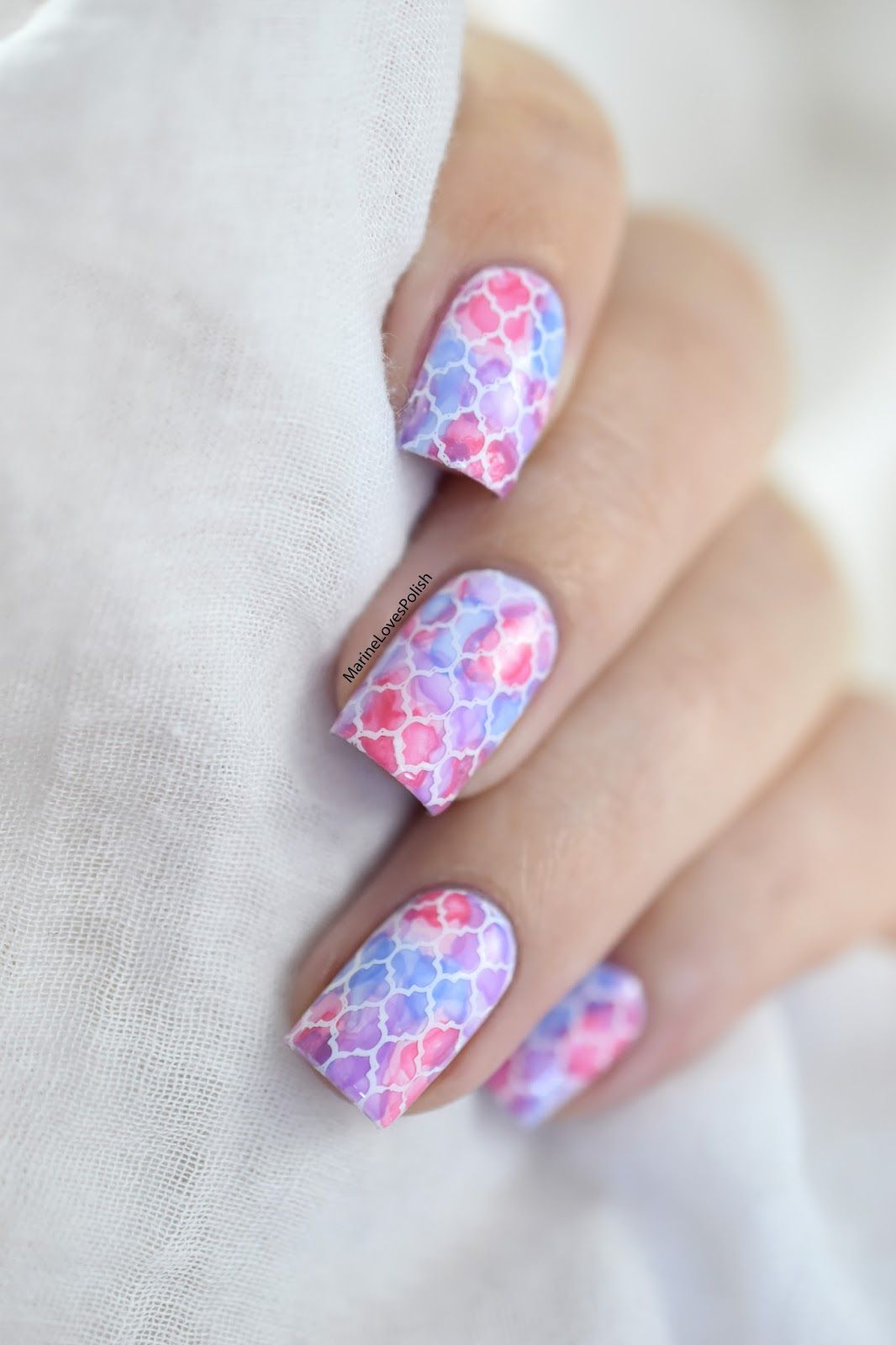 Watercolor Nail Art Tutorial With Picture Polish Watermelon And