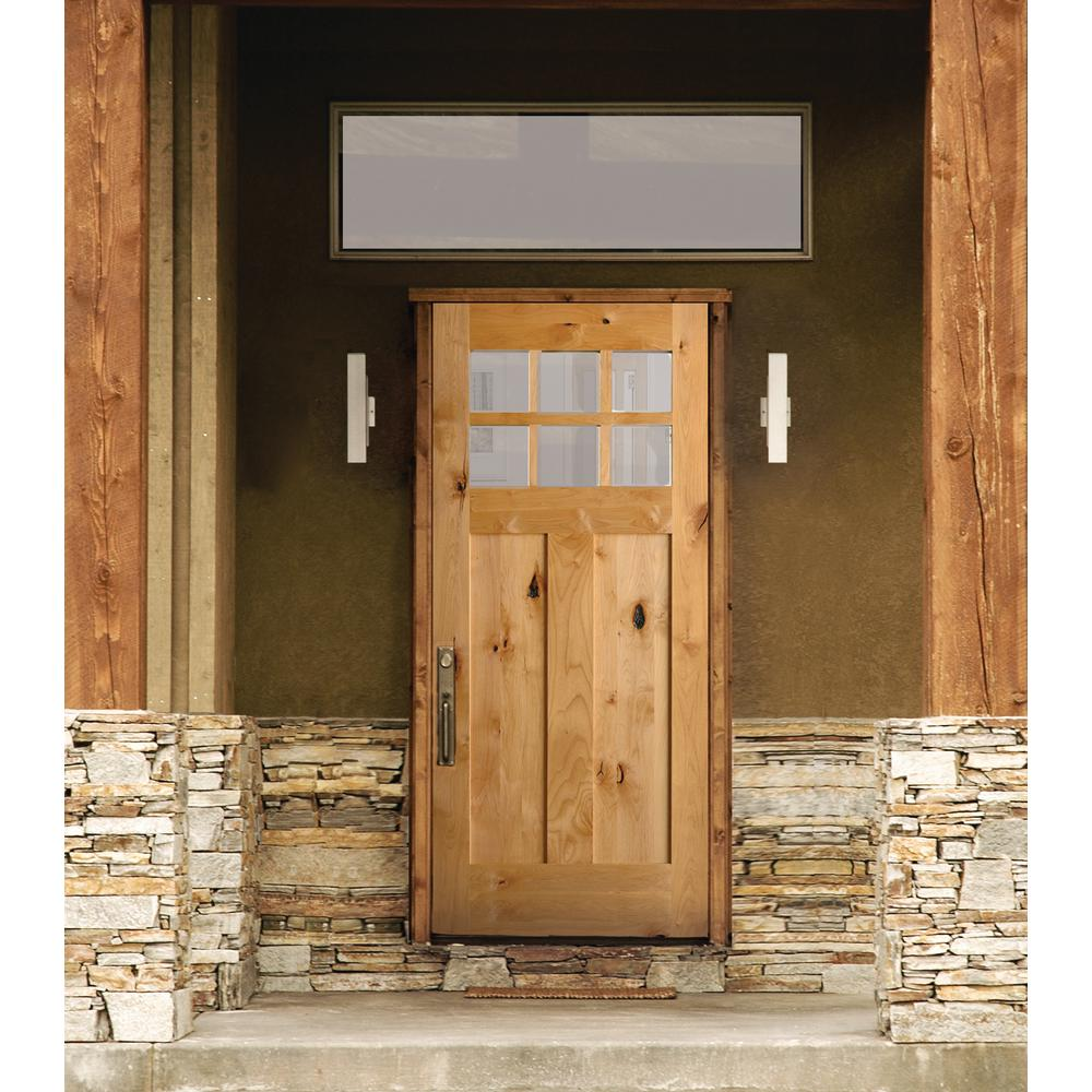 Krosswood Doors 36 In X 80 In Krosswood Craftsman Unfinished Rustic Knotty Alder Solid Wood Single P Rustic Front Door Wood Front Doors Craftsman Front Doors