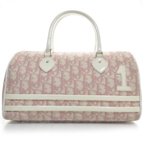 Christian Dior Monogram Girly Boston In Pink Used Designer Handbags Christian Dior Handbags Dior
