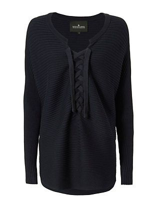 Designers Remix CHARLOTTE ESKILDSEN Ribley Lace-Up Sweater