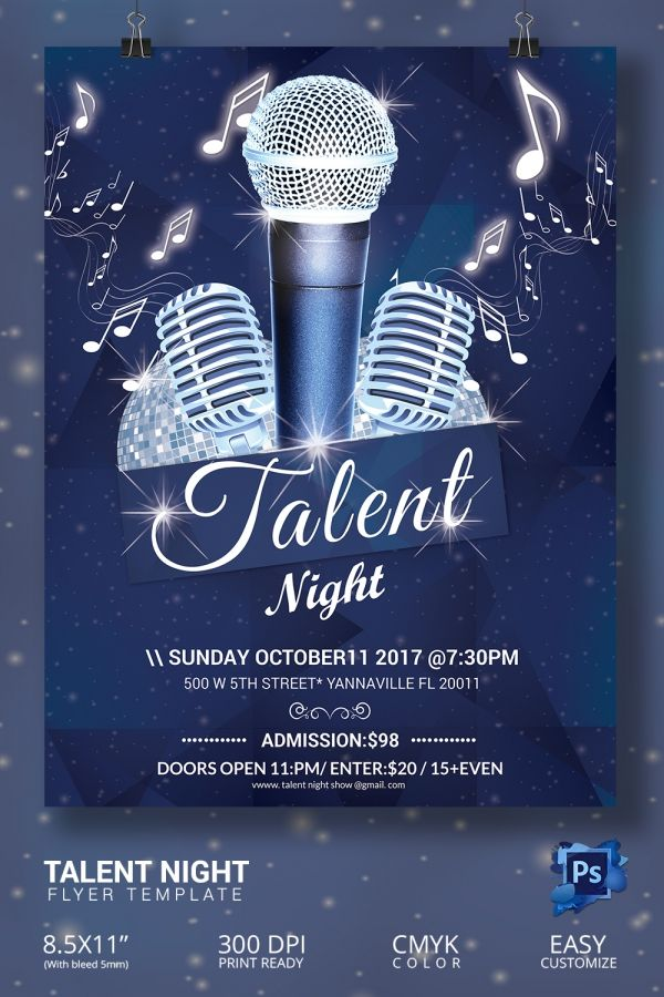 16+ Amazing Talent Show Flyer Templates PSD | Maddy Graduation ...