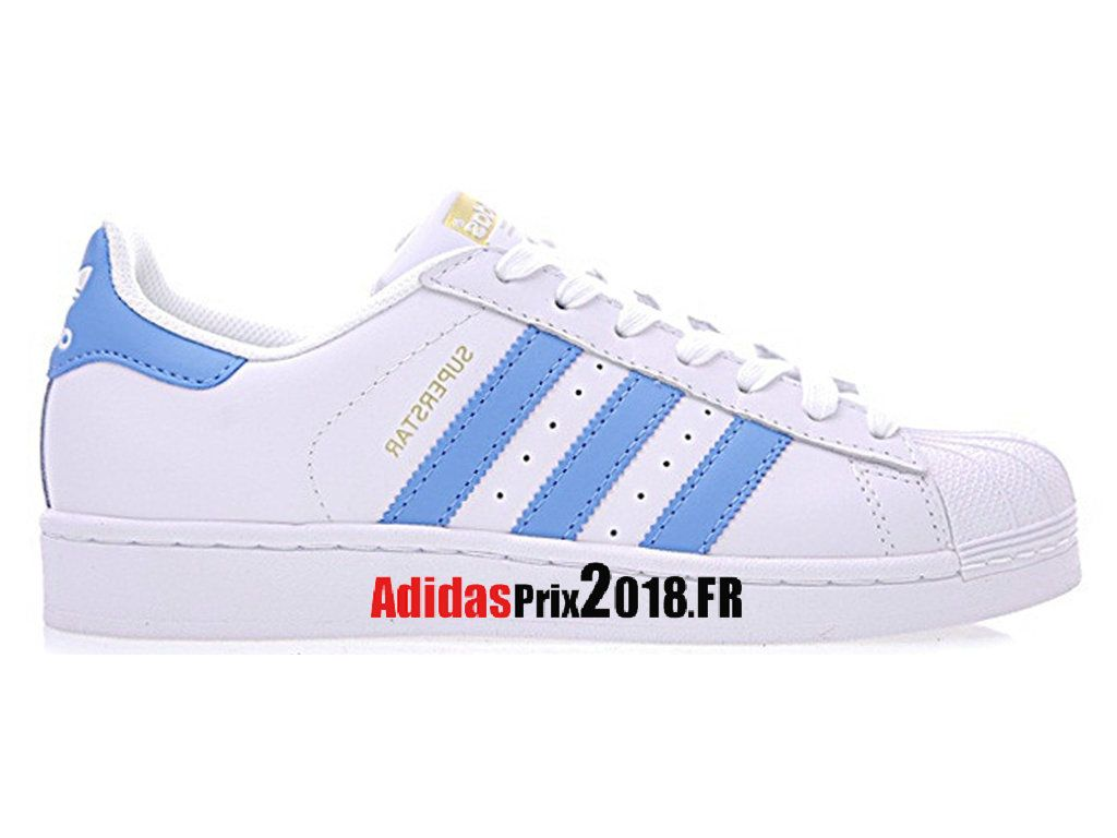 Adidas Superstar Foundation Blanc Bleu BY3716 Chaussures ...