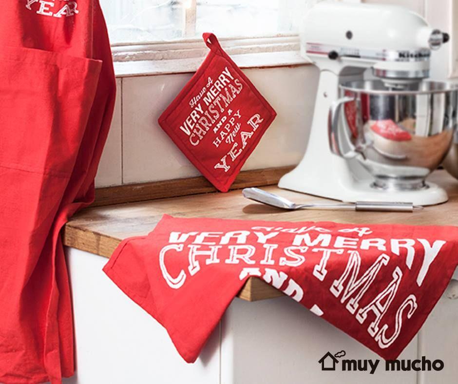 textiles de cocina navideos de muy mucho muymucho textiles cocina