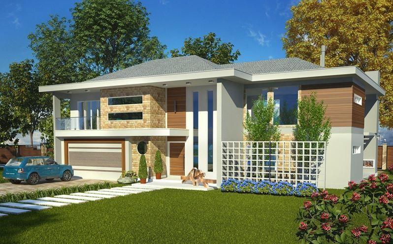 planosdecasasmodernasdedosplantas Modelos de casas Pinterest