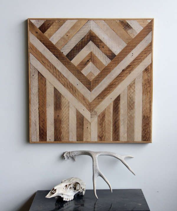 Reclaimed Wood Wall Decor Panels Are Delightfully Patterned Full