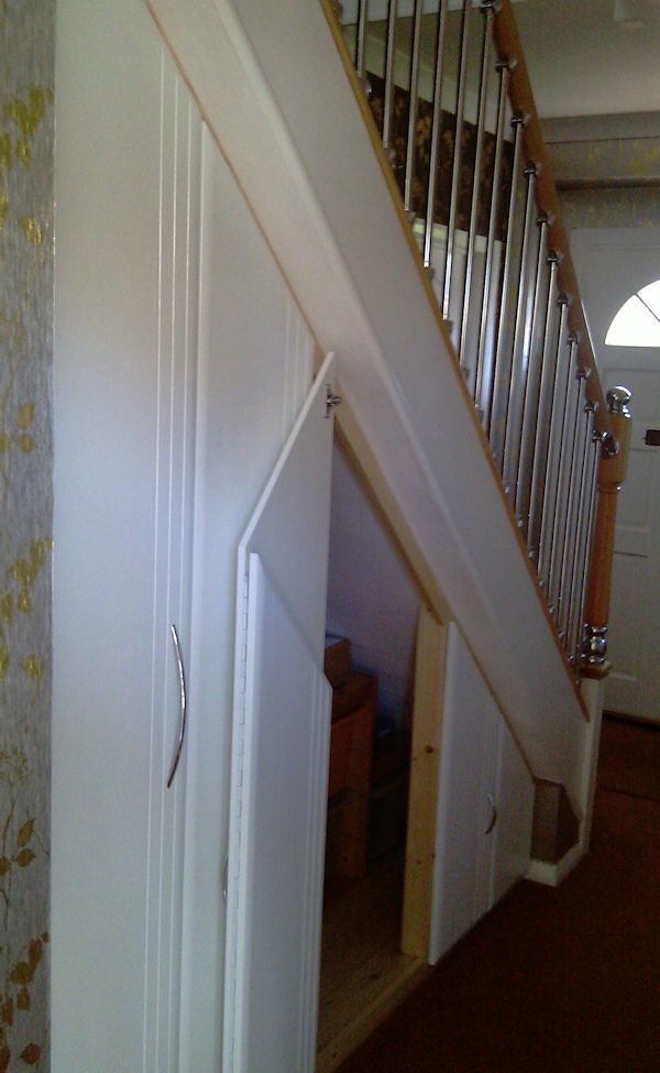 Example Of Angled Doors Installed In An Under Stair