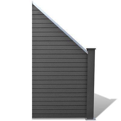 WPC Alu schräg Gartenzaun Sichtschutzzaun Terrasse Sichtschutz - sichtschutzzaun aus kunststoff gute alternative holzzaun