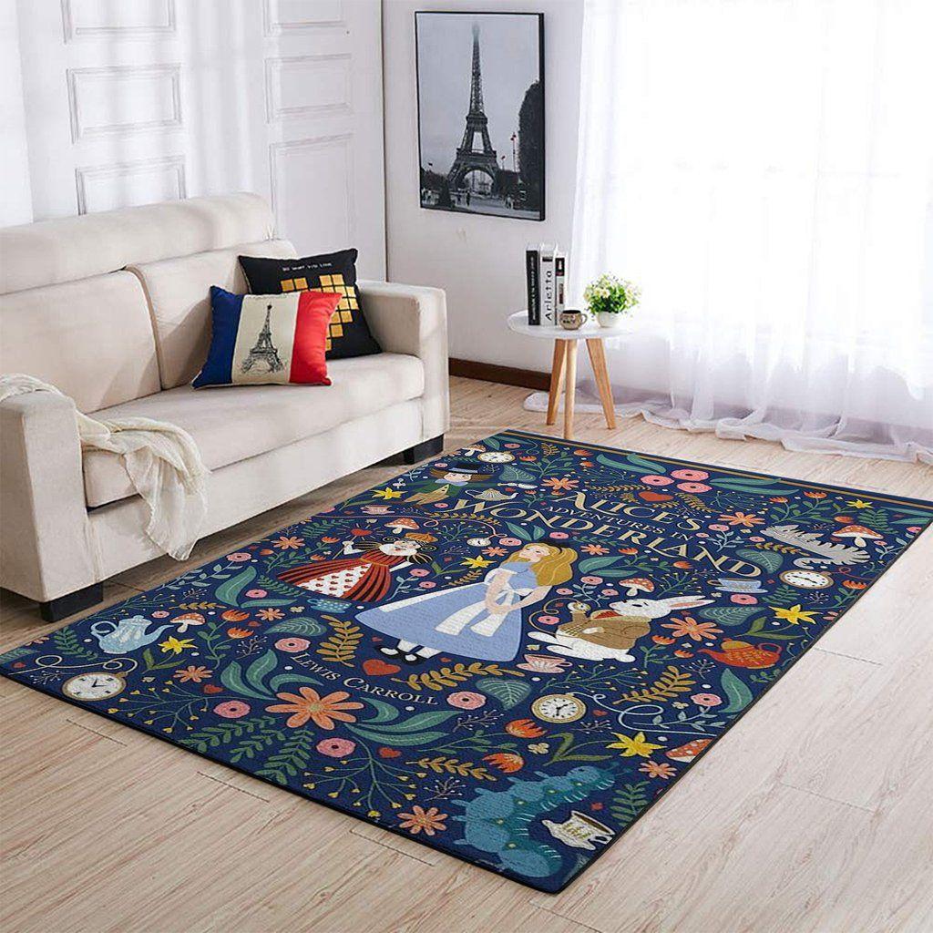 Alice S Adventures In Wonderland Area Rug Disney Rugs Ofd 191010 Floor Decor Disney Rug Rugs On Carpet