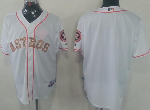 houston astros blank white cool base camo number mlb jersey