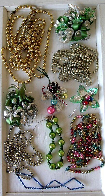 more vintage bead garland! Z Christmas lights, Garland  Icicles
