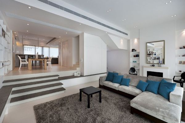 Split Level Living Room Sunken Living Room Split Level Home