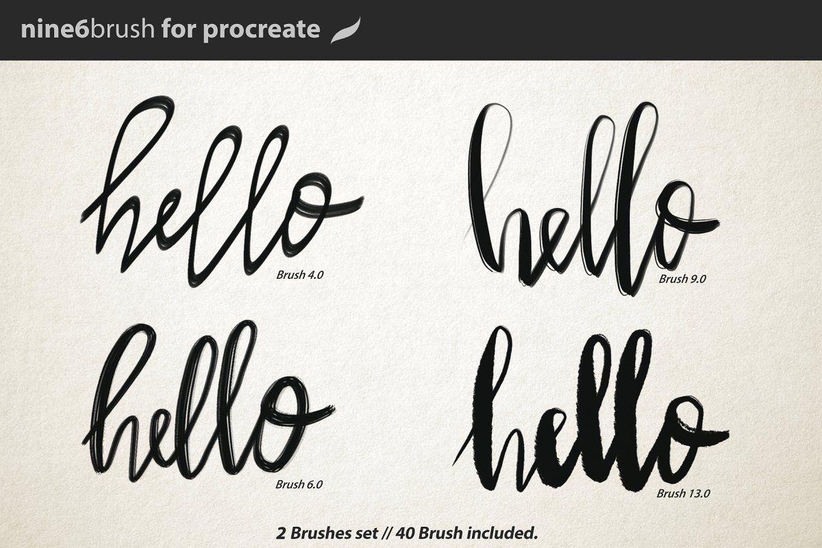 Ad Nine6brush V.1 Procreate by D&K_project on