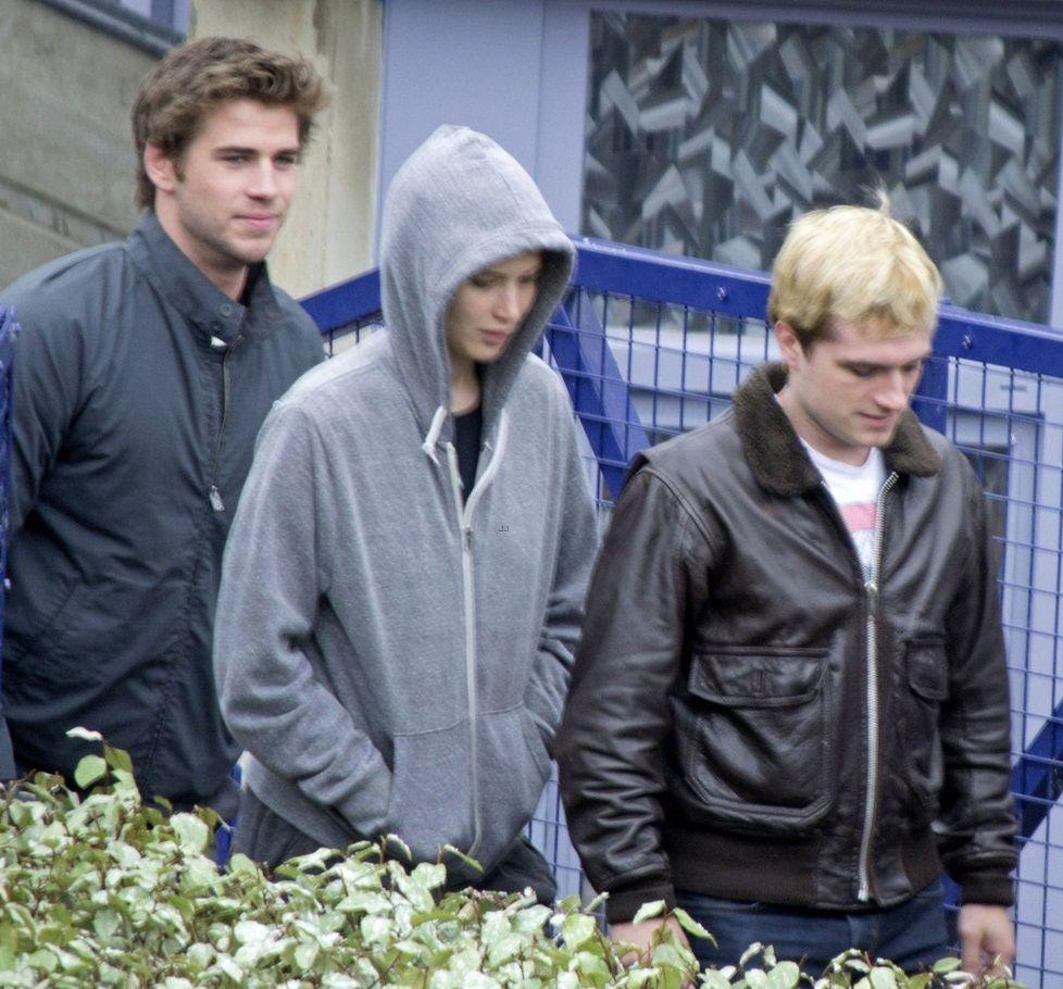 Liam, Jennifer and Josh on Mockinjay set