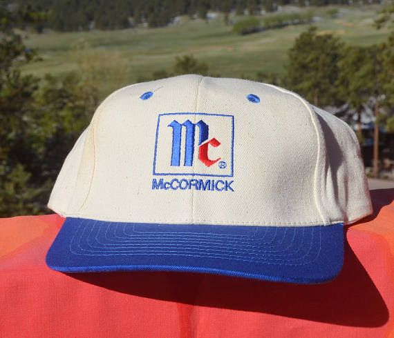 f1b7d467622710 vintage 80s baseball cap McCORMICK SPICES two tone twill hat ...