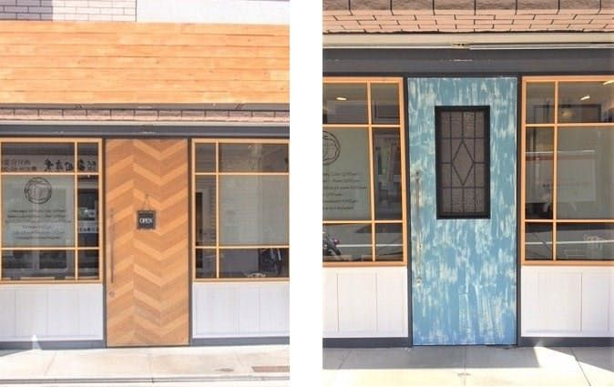 """Make your own store door glass!  Example of using """"Abstract (Clear)"""" (K, Toyonaka City, Osaka Prefecture)"""