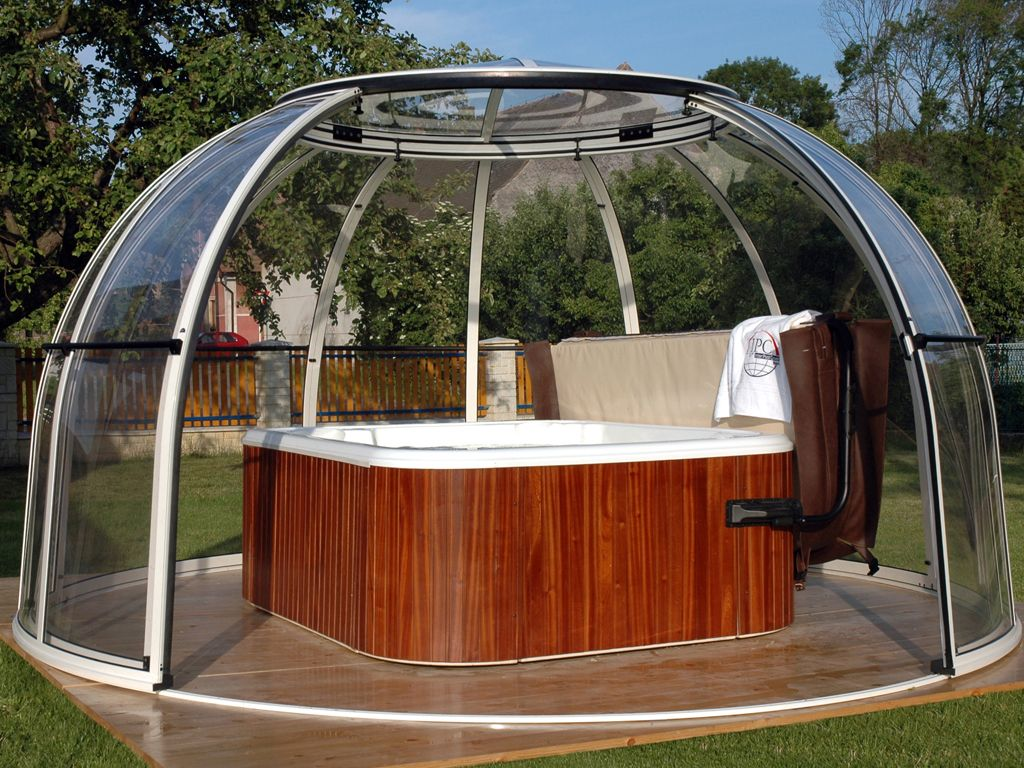 Spa Domes Hot Tub Tub Enclosures Hot Tub Garden