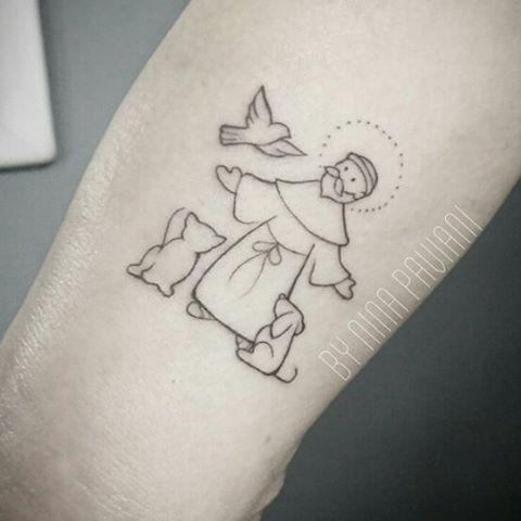 tatuagem de s o francisco de assis protetor dos animais saint francis of assisi tattoo. Black Bedroom Furniture Sets. Home Design Ideas