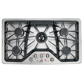 GE Cafe 36in 5Burner Gas Cooktop (Stainless) Item