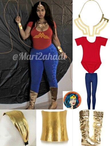 DIY last minute costume  WONDER WOMAN polyvore idea