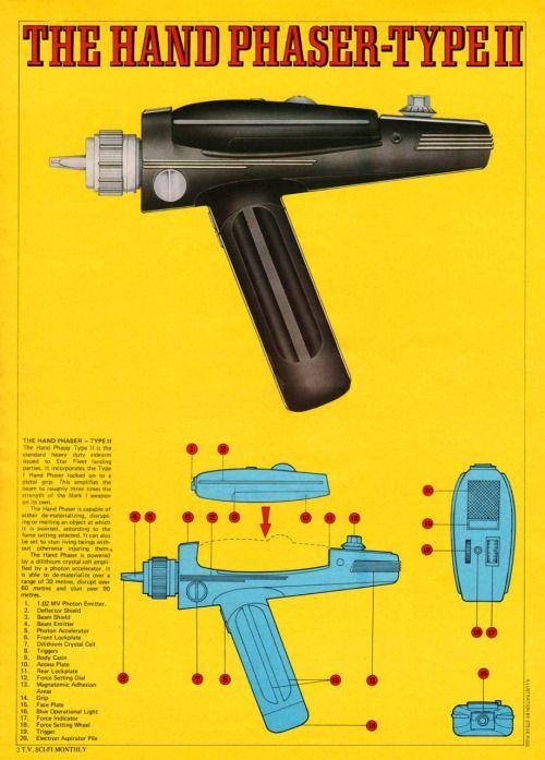 Original Star Trek Series Phaser Blueprints Heyoscarwilde