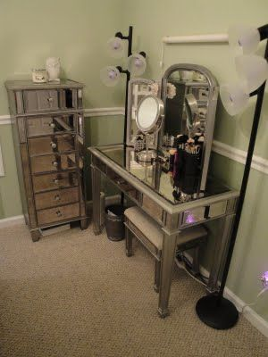 Office Using Pier 1 Hayworth Mirrored Furniture Collection