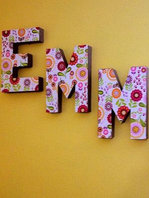 10 Easy And Fun Diy Room Decorations To Make This Weekend Gurl Cardboard Letters Paper Mod Podge