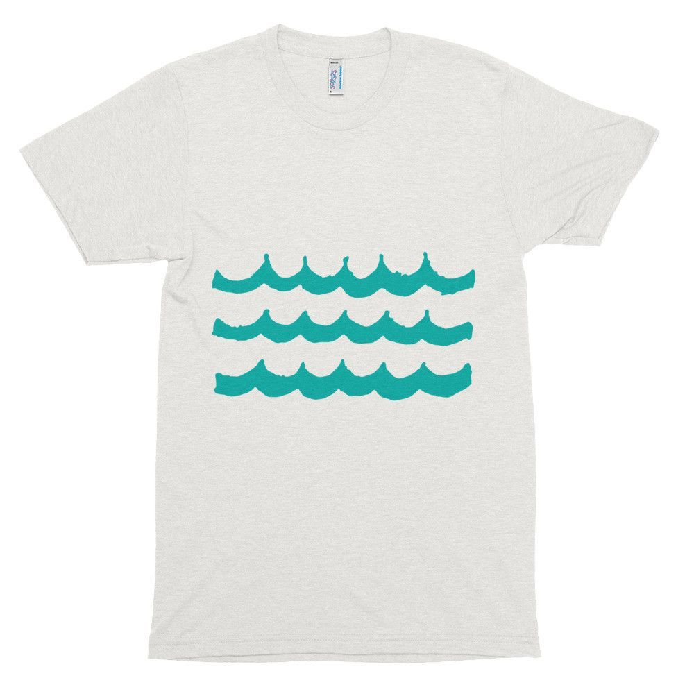 """Waves"" TR401 Unisex Tri-Blend T-shirt"