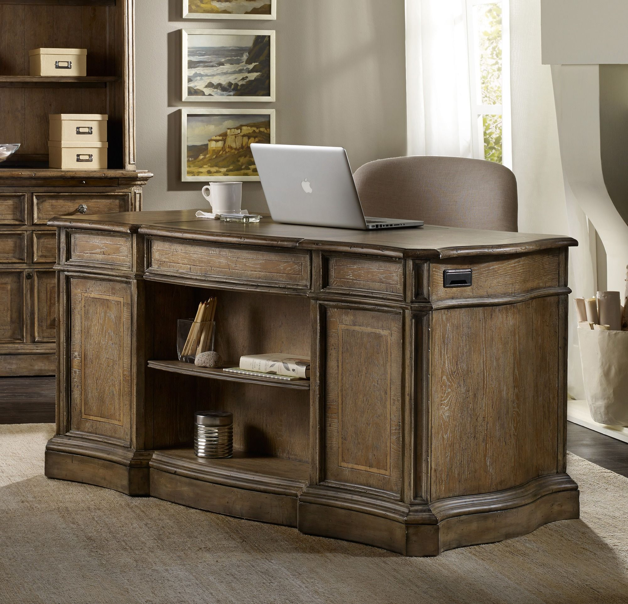 Hooker Office Furniture Intended Solana Knee Hole Desk By Hooker Furniture Home Gallery Stores