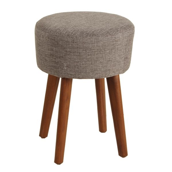 Porthos Home Wallace Linen Upholstered Stool Upholstered