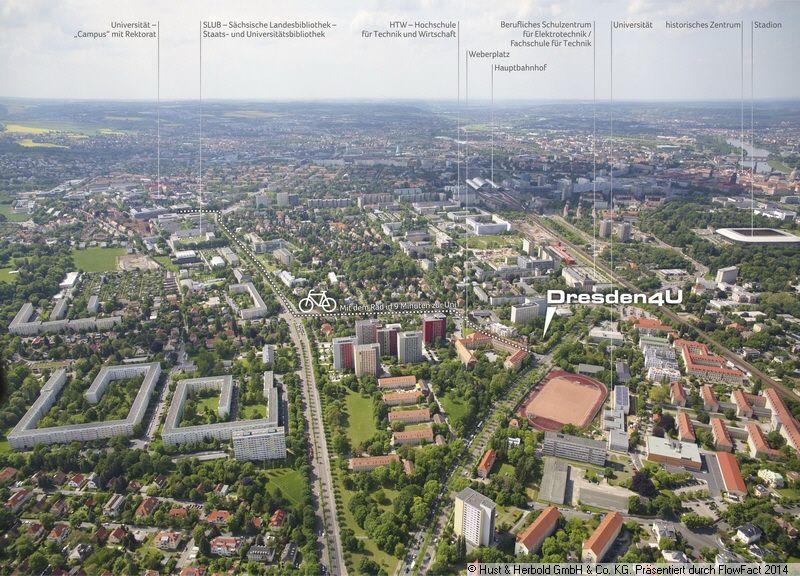 luftbild des schicken studenten-appartmenthaus #dresden 4u, das am, Innenarchitektur ideen