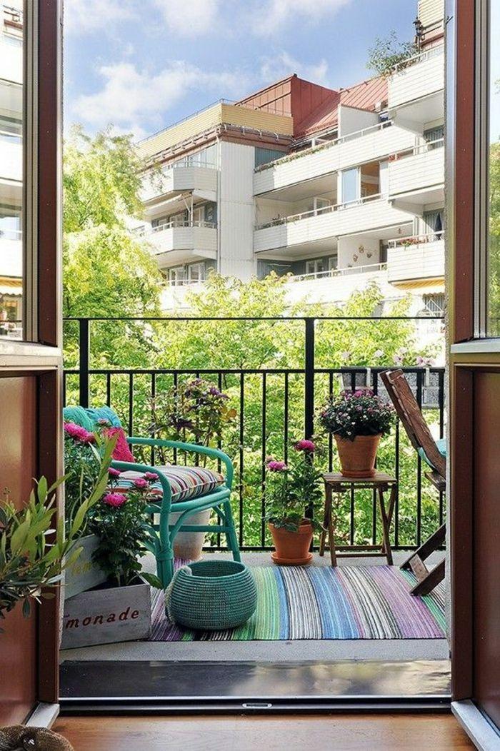 einfache n rdliche balkongestaltung ideen f r kleine fl chen amazing spaces pinterest. Black Bedroom Furniture Sets. Home Design Ideas