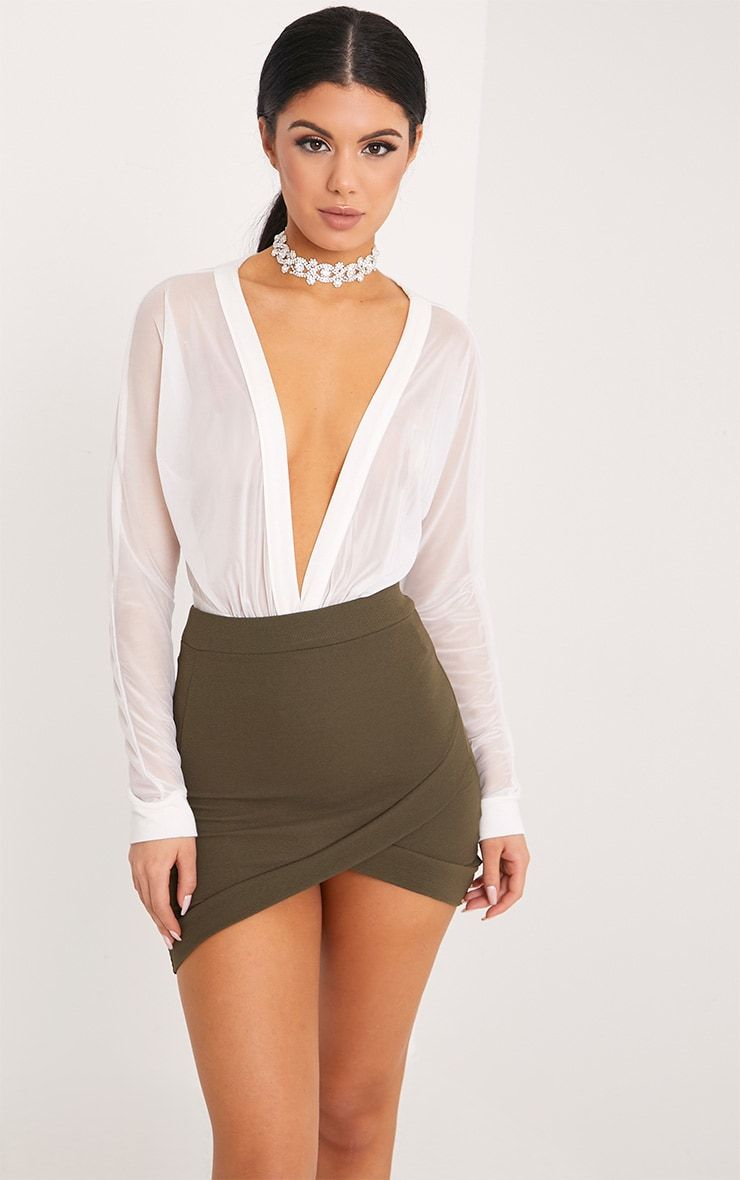 Gabriella Side Lace Up High Waisted Sequins Mini Skirt