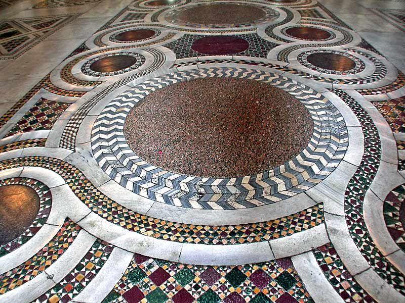 Basilica Of Santa Maria Maggiore Rome The Cosmatesque Floor Was
