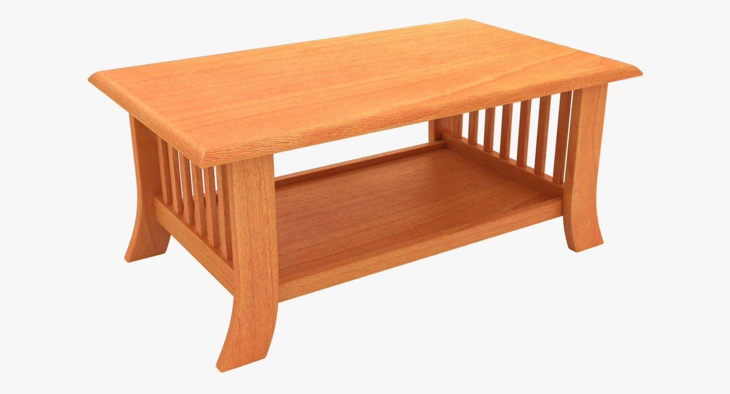 Wooden Teapoy Table 03 3d Model In 2019 Table Model