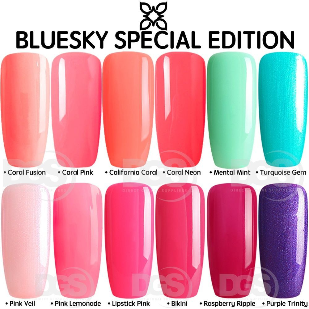 Bluesky Special Edition 2018 Range Uv Led Soak Off Gel Nail Polish 10ml Gel Nail Polish Gel Nails Soak Off Gel Nails